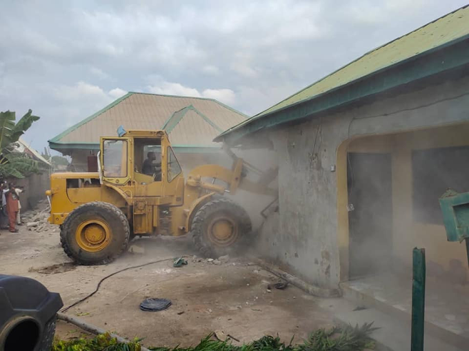 Benue State Government Demolishes Kidnappers' Den