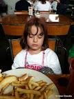Sound asleep at brunch.
