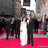 WWW.ENTSIMAGES.COM -    Helen McCrory and Damien Lewis   at      The Olivier Awards at Royal Opera House, Covent Garden, London, April 28th 2013                                               Photo Mobis Photos/OIC 0203 174 1069