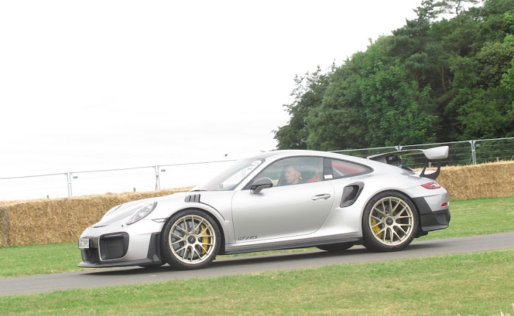 The new Porsche 911 GT2 RS on the hill at Goodwood. Picture: MARK SMYTH