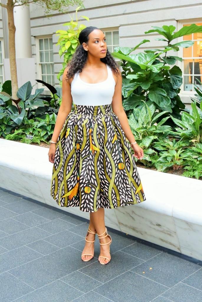 Cute African Print Skirts 2017