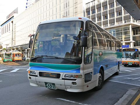 瀬戸内運輸「特急新居浜松山線」 5321 松山市駅到着