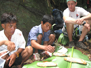 Photo: The guide prepare you lunch-3 Days Nam Ha Jungle Camp in Luang Namtha, Laos