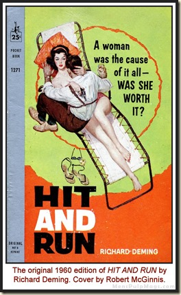 HIT AND RUN (1960) by Richard Deming, Robert McGinnis cover