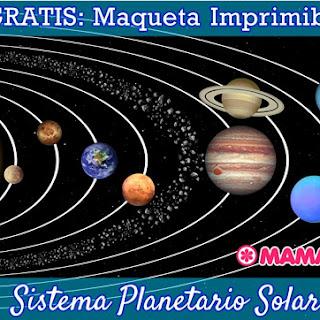 Maqueta del Sistema Solar para Imprimir