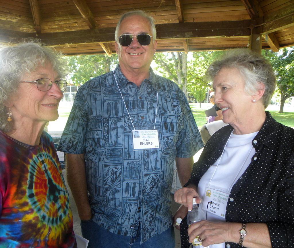 Beth Pederson, John Ehlers and Bev Ehlers