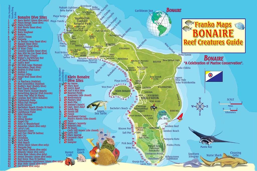 Mapa de Bonaire