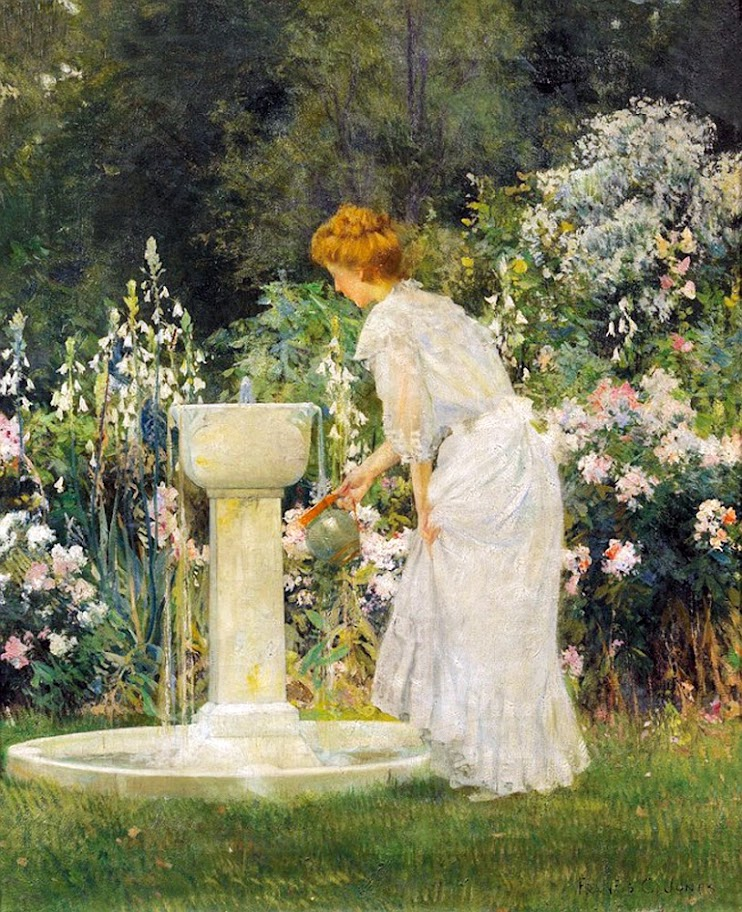 Francis Coates Jones - At the Garden Fountain