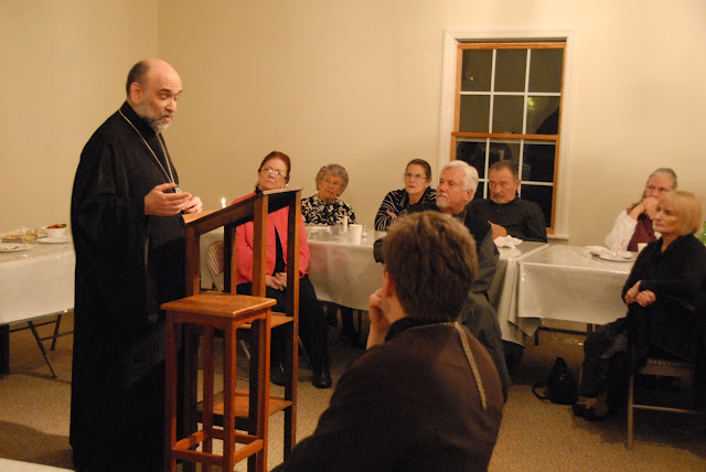 Bp. Michael addresses guests with his plans for the next year.