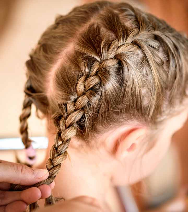 Easy braided hairstyles for girls 2018-2019, 1