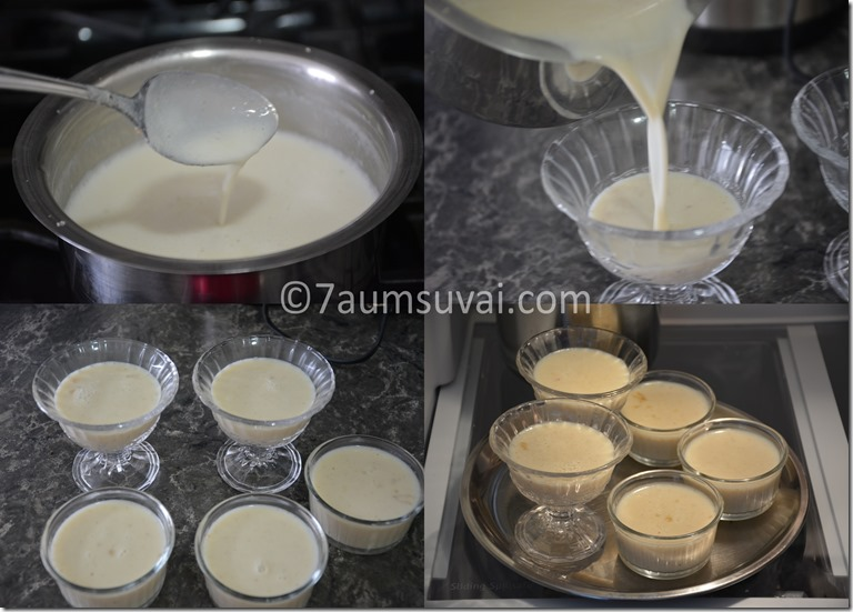 Milk pudding / agar agar pudding