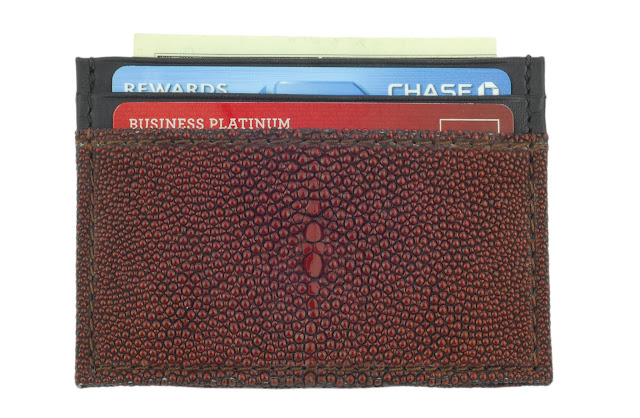 d02 - Genuine Leather Credit Card Case