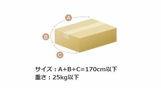 ゆうパックを利用できる「商品のサイズ・重量」
