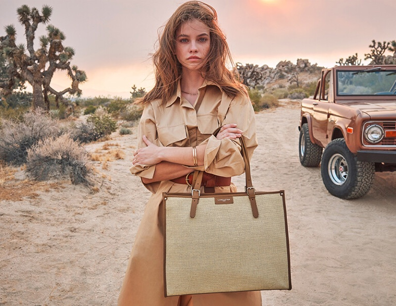 Barbara Palvin poses for the Lancaster Spring/Summer 2021 Campaign