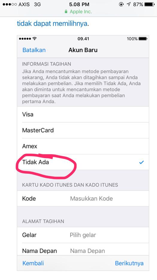 Buat Id Apple Baru : apple, Bagaimana, Membuat, Apple, Tanpa, Kartu, Kredit, Berbagi