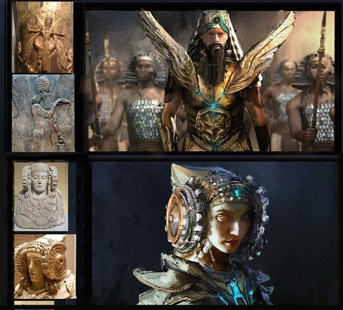 Enki era o guardião dos poderes divinos chamados Eu , os dons da civilização . Crédito de imagem
