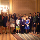 Student Guests with Wilma Boyd, Etiquette Teacher and Business Hall of Fame Laureate, Collier 1998