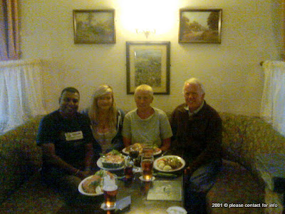 Prasanjith, Jennie, Lesley and Alan in UK