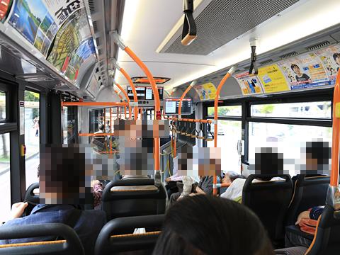 新潟交通 萬代橋線BRT 連接バス ・・・1 車内 その2