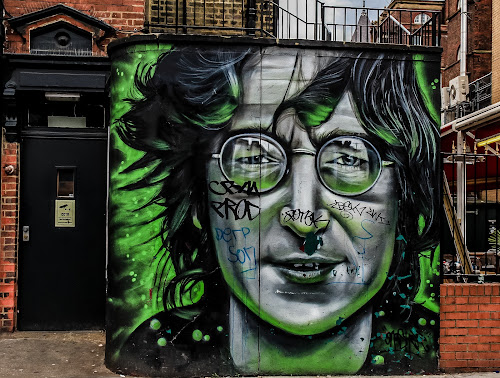 John Lennon by Mandy Hedley - City,  Street & Park  Street Scenes ( london, street, graffitti, camden, john lennon,  )