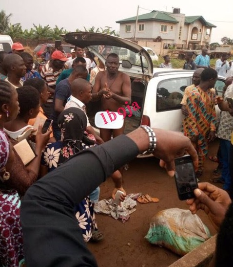 Man caught with 7 human heads in Ogun State (Photo)