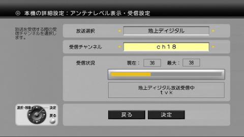 2012年4月2日昼間現周波数受信レベル