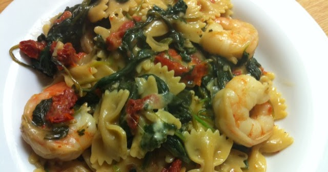 Healthy Home Revolution: Shrimp Farfalle with Spinach and ...