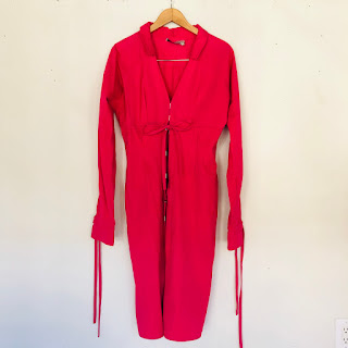YSL Rive Gauche Fuchsia Dress