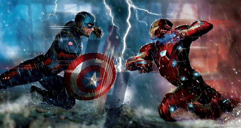 Captain America vs Iron-man