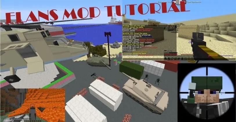 Minecraft Flans And Battle War Mod