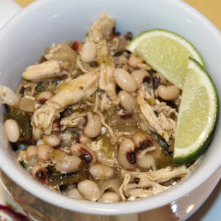 Skinny White Bean Chicken Chili for a Crowd