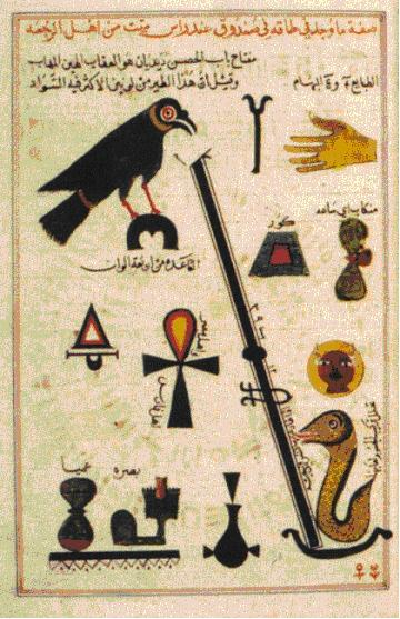 Symbols In Medieval Arabic Alchemy Inspired By Egyptian Hieroglyphs, Alchemical Apparatus