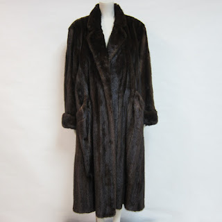 **SALE** Mink Notched Collar Fur Coat