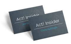 Act! Insider Business Cards