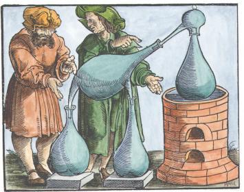 Woodcut From Geber De Alchimia Libri Tres Strassburg 1631, Alchemical And Hermetic Emblems 1