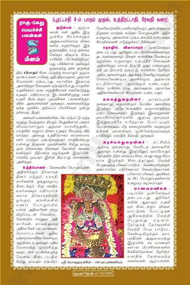 Complete and Full Rahu Kethu Peyarchi Palangal - Meenam