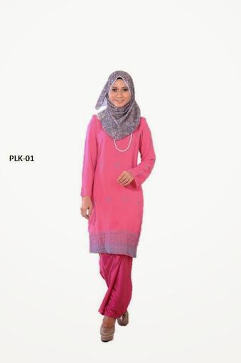 baju kurung moden merah jambu pink baju raya 2014 online murah