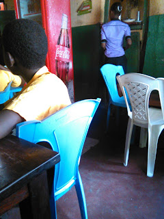 Chumani primary students in a cafe after parents landed on there teachers on the issue of possession.