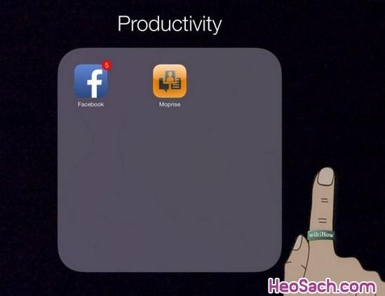Hình 4 - Hướng dẫn tạo thư mục (Folder) chứa ứng dụng trên iPhone, iPad