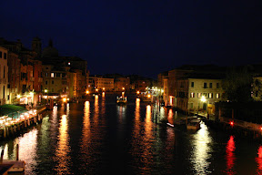 The Canal Grande at night