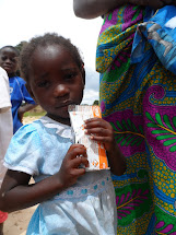 The aid for undernourished children in Angola