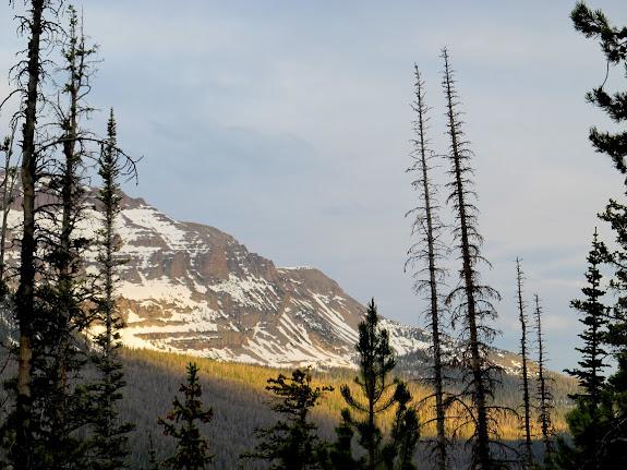Spotlighting below Hayden Peak