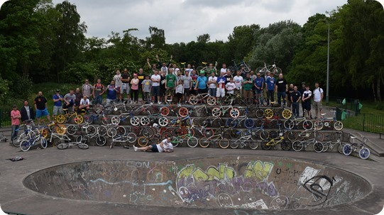 Chesh-Air – old school BMX fans at Tipkinder Park