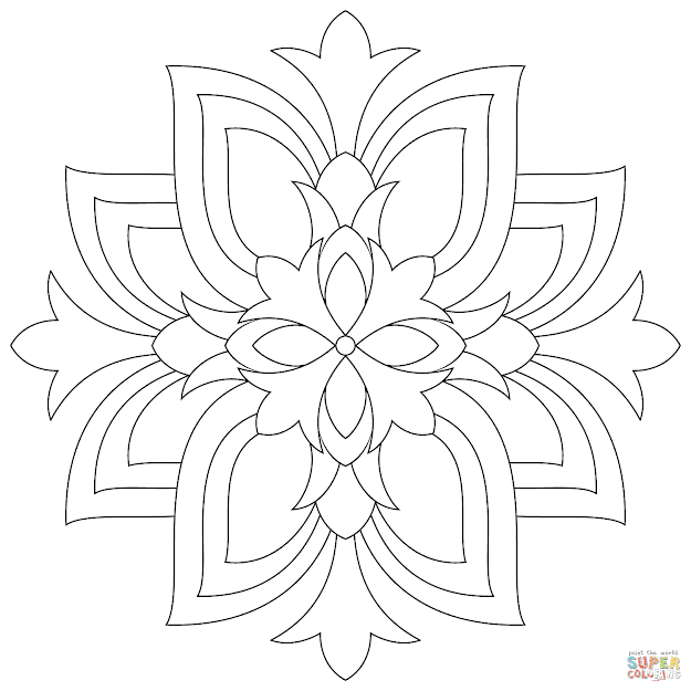 Click The Lotus Mandala Coloring Pages To View Printable Version Or Color  It Online Patible With Ipad And Android Tablets