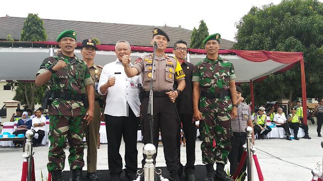 Pengamanan Tahapan Pemilu 2019 Polres Klaten Gelar Operasi Mantab Brata Candi 2018