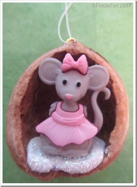 Little Mouse Walnut Shell Christmas Tree Ornament