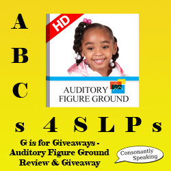 ABCs 4 SLPs: G is for Giveaways - Auditory Figure Ground Review and Giveaway image