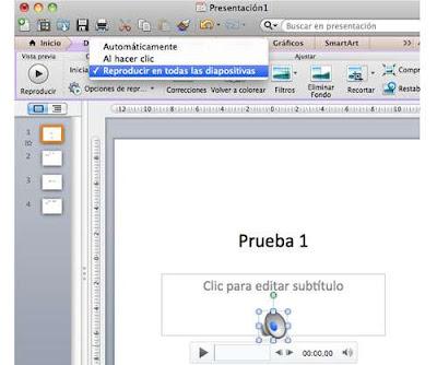Configurar una banda sonora en PowerPoint para Mac