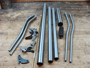 Photo: Pipes and fittings for a Neve fatbike!
