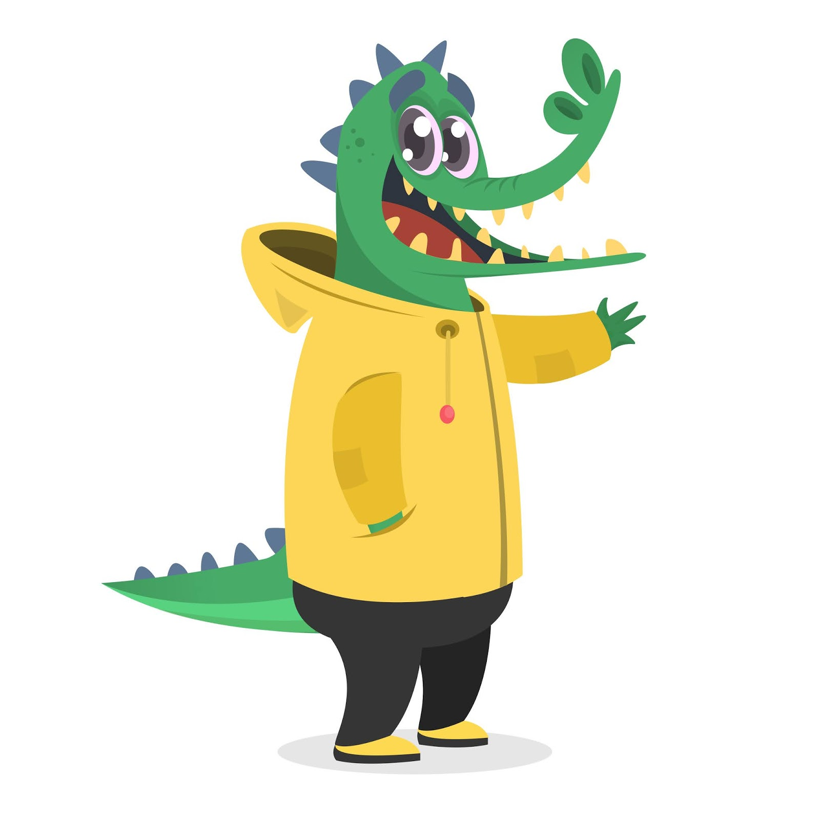Cartoon Funny Crocodile Illustration Free Download Vector CDR, AI, EPS and PNG Formats